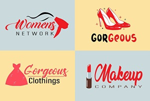 I will do feminine beauty fashion cosmetic logo design