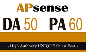 I will Write and Publish A Guest Post Apsense DA50 With Backlink