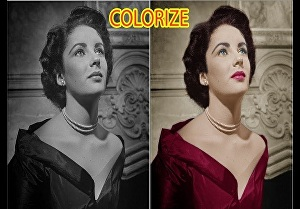 I will restore and colorize old images