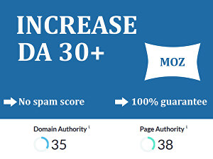 I will increase domain authority moz da up to 30 in 29 days