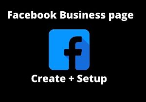 I will create facebook business page or fan page