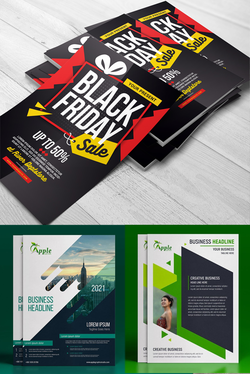 Design Stylish Flyer, Poster Or Magazine Ad