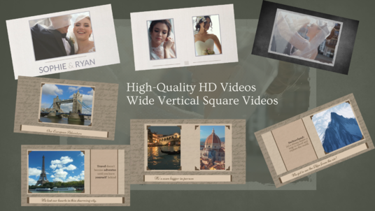 create elegant slideshow video with your photos and videos