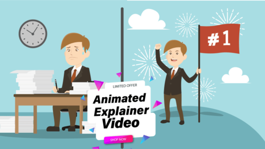 create animated explainer video or marketing video for sales
