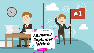 I will create animated explainer video or marketing video for sales