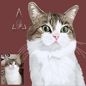I will draw your pet vector