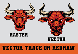 I will convert files from raster to vector, ai, psd, png