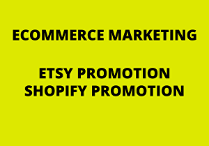 I will do etsy ebay shopify promotion ecommerce store marketing USA web traffic