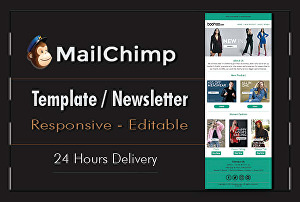 I will design a Mailchimp email template