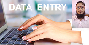 I will do data entry, copy typing
