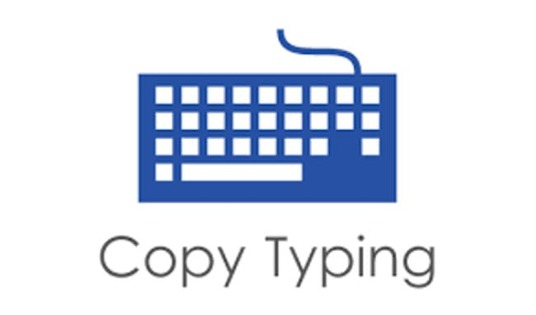 do data entry, copy typing