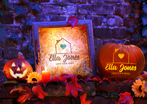 I will carve your logo on a halloween pumpkin for real estate