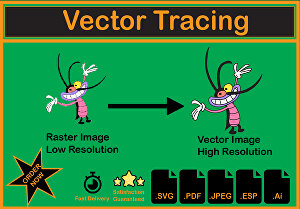 I will convert your Raster image and handmade sketch into Vector image.