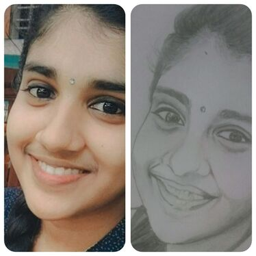 draw your face with pencil