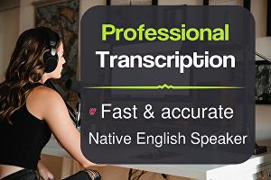 I will transcribe 60 mins of audio or video transcription in 24 hours