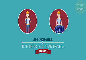 I will make solar panel power or energy 2d animated promo video