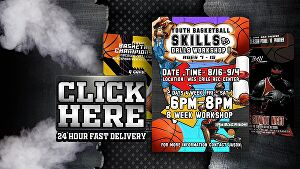 I will design a unique basketball sport flyer in 24 hour