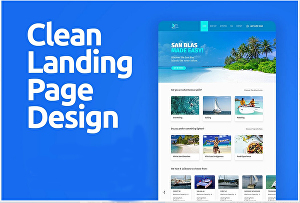 I will do modern WordPress landing page design or Elementor, Divi landing page design
