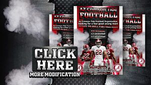I will design an incredible football poster and any sport flyer