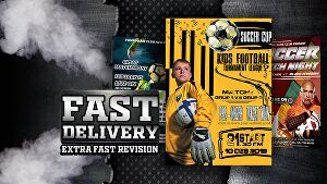 I will design amazing soccer  poster and any sports flyer