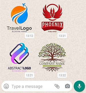 I will Convert your logo in WhatsApp sticker format  different 5 colours