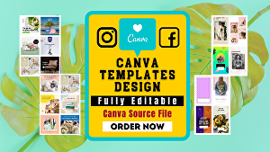 I will design canva templates for social media posts,ads