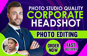 I will Edit Portrait Headshot Photo in Photoshop