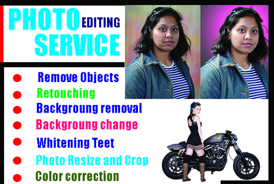 do photoshop editing from your images