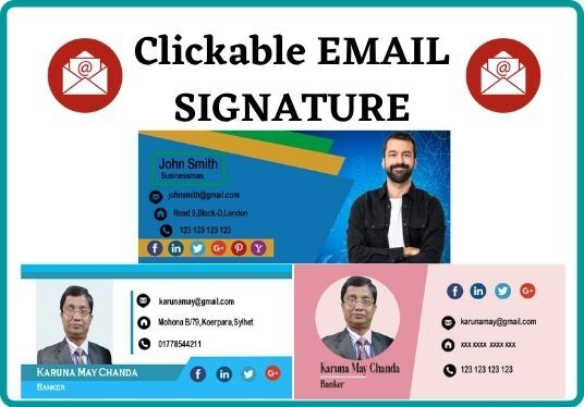 create a designable Clickable HTML email signature