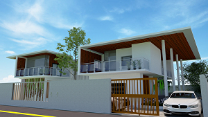 I will design architectural realistic 3d model building rendering in SketchUp