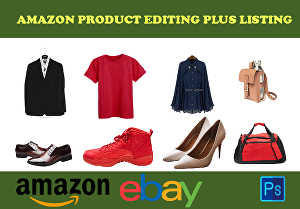 I will do amazon product editing retouching and background removal