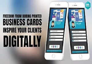 I will create printable and clickable digital business card with editable templates