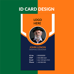 I will design professional student and office id card