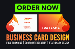 I will create unique print ready business card or visiting card design