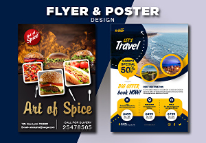 I will do amazing brochures posters and business flyers design