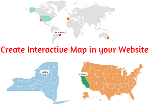 I will create a clickable interactive vector map in your wordpress website