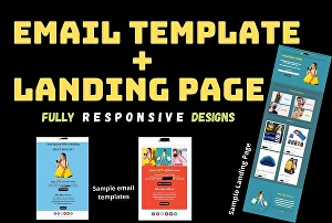 I will create and design email template or landing page for your business