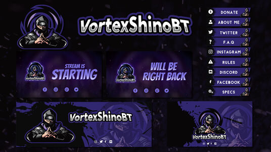 design a professional twitch overlay and screen pack for your stream