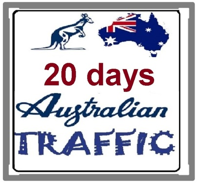 send  20 days targeted Australia  traffic  with extras SEO