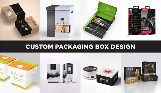 create print ready product packaging box design and label design