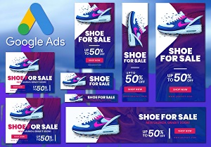 I will design google banner ads for adwords display ads