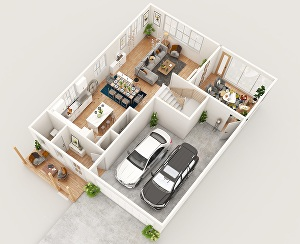I will create realistic 2d and 3d architecture renderings