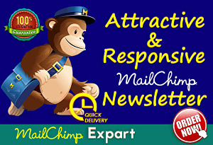 I will design Attractive Mailchimp Email Template Newsletter