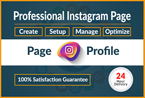 I will create a professional Instagram business page for you