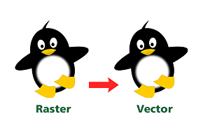 I will convert raster image to vector manually