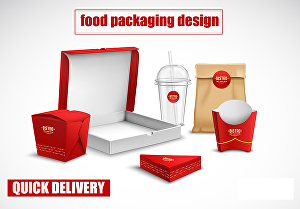 I will do restaurant or food packaging design