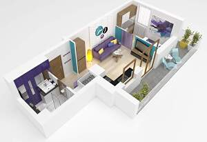 I will create  3d realistic floor plan design and visualization
