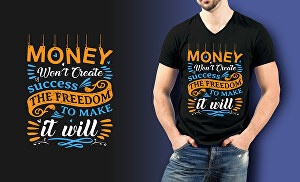 I will design typography t shirt for you