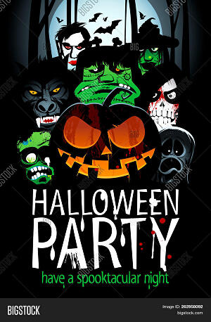 I will design halloween posters and flyers