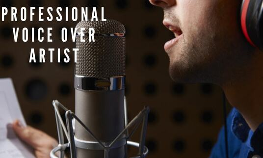 record an American male voice over in 24 hours